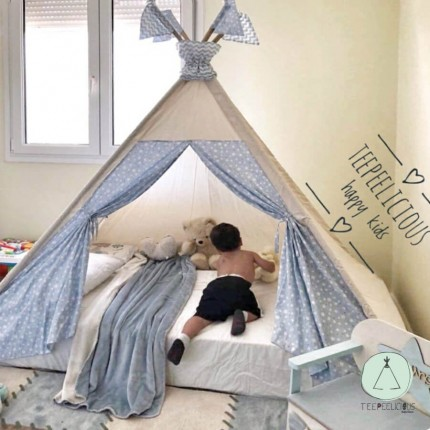 "PURE TEEPEE BED WITH DOORS ""TINY STARS"""