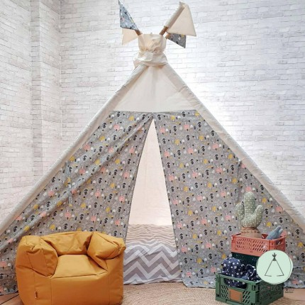 """TEEPEE BED """"FOREST GREY"""""""