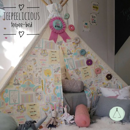 "TEEPEE BED ""CUTE UNICORNS"""