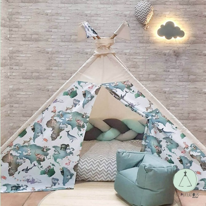 TEEPEE BED ANIMAL PLANET