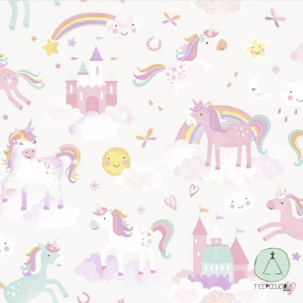 WALLPAPER UNICORN WHITE