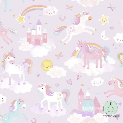 WALLPAPER UNICORN LILAC