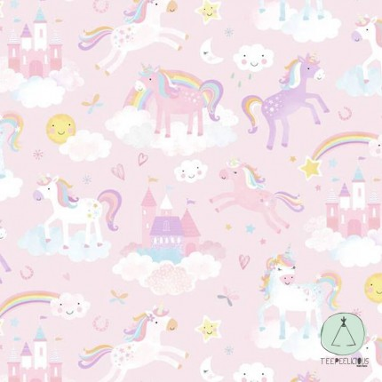 WALLPAPER UNICORN PINK